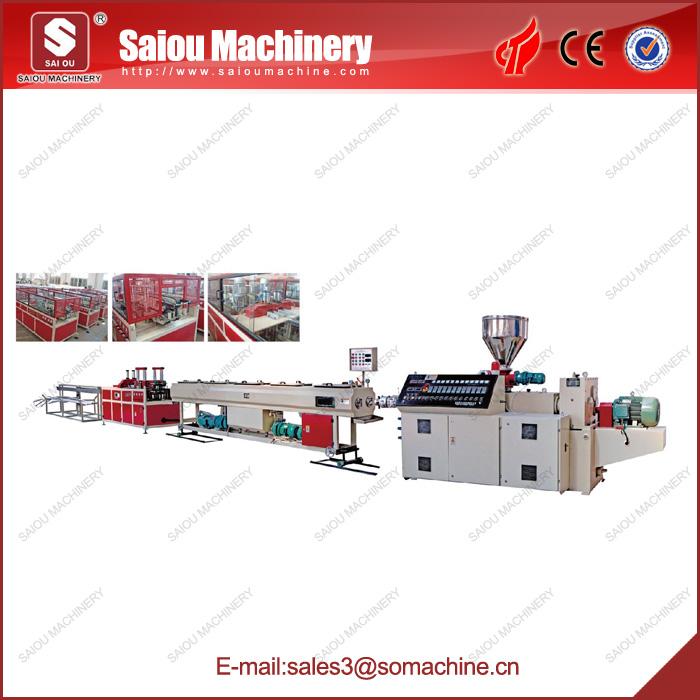 UPVC double pipe production line